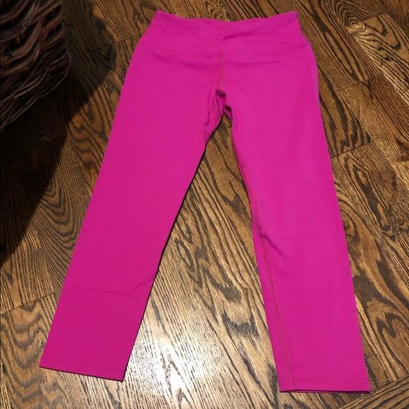 Hard Tail Pants - Hardtail bright pink crop legging